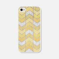 Chevron iPhone 5 Case Yellow Herringbone - Wood iPhone 5s Case - Gold - Ombre iPhone 5 Cover - Geometric Phone Case iPhone 5c Case