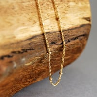 Olina necklace - a delicate 14kt gold filled satellite chain necklace, tiny bead necklace, minimal necklace, minimalist layering necklace