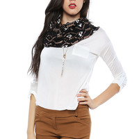 Papaya Clothing Online :: ESSENTIAL SOLID POCKET BACK BUTTONED CHIFFON TOP