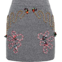 STELLA MCCARTNEY | Wool Mini Skirt with Cord Detail | Browns fashion & designer clothes & clothing