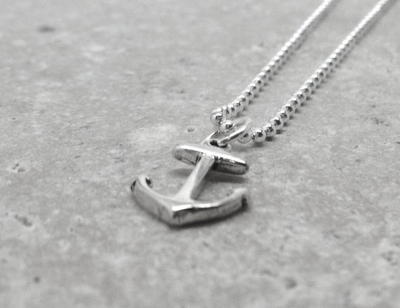 Xmas in July, Anchor Necklace, Sterling Silver