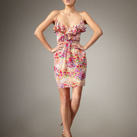 Shoshanna - Ruffled Floral-Print Dress - Bergdorf Goodman