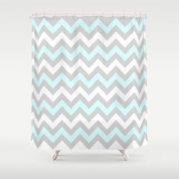 Chevron #5 Shower Curtain by Ornaart | Society6
