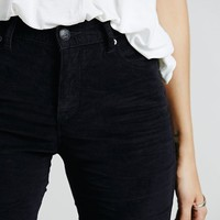 Free People Womens Extended Cord Skinny - Shadow Black