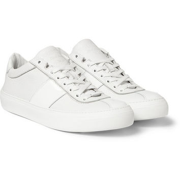 Jimmy Choo - Portman Full-Grain and Patent-Leather Sneakers | MR PORTER