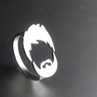 Hair  Beard Ring - Handmade Silver Ring
