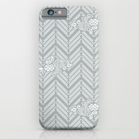 Paloma Gray Chevron Floral iPhone & iPod Case by BeautifulHomes
