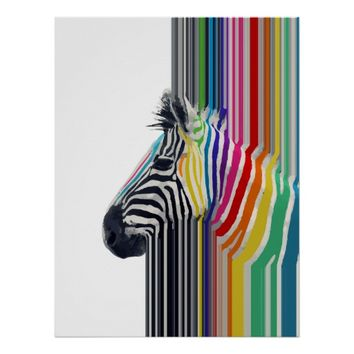 awesome trendy colourful vibrant stripes zebra
