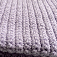 Crochet Baby Afghan Blanket Throw Orchid
