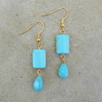 Turquoise Travels Earrings [6107] - $12.00 : Vintage Inspired Clothing & Affordable Dresses, deloom | Modern. Vintage. Crafted.