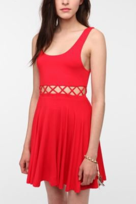 Pins and Needles Knit Front Cutout Circle Dress