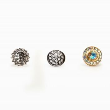 STARBURST CIRCLE EARRING TRIO