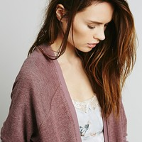Free People Womens Washed Slouchy Cardi
