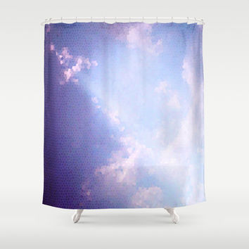 Clouds mosaic Shower Curtain by eDrawings38 | Society6