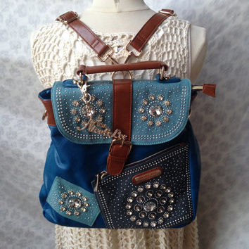 Nicole Lee Rhinestone Studded Backpack
