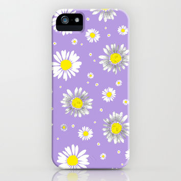 Daisies - Purple iPhone & iPod Case by Ornaart | Society6