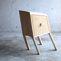 Leaning Nightstand Barely Functional Wood Furniture Table