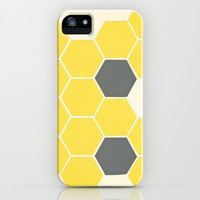 Yellow Honeycomb iPhone & iPod Case by Cassia Beck
