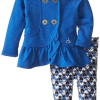 Calvin Klein Baby-Girls Infant Jacket with Hood and Printed Pants