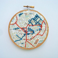 Milan Map Embroidered
