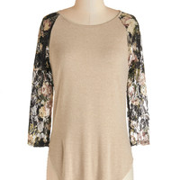 ModCloth Mid-length 3 Flowers on Friday Top