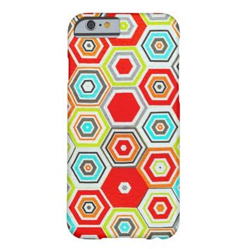 Multicolor Hexagon pattern iPhone 6 Cases