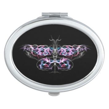 Futuristic Fractal Butterfly Compact Mirror