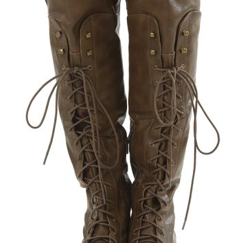 All Or Nothing Boots: Dark Brown