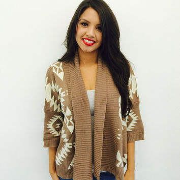 Brown Pattern Cardigan