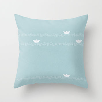 Martin, Across the Wide Sea Throw Pillow by Timone | Society6
