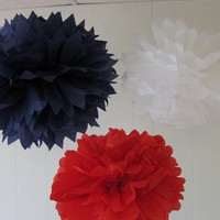 George Collection 3 Pom Poms by PaperwhiteDesigns on Etsy