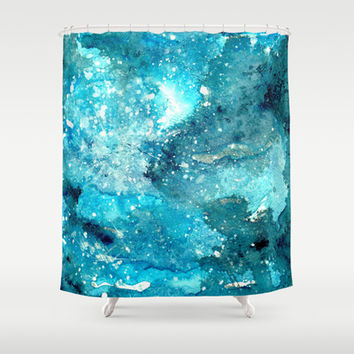 Galaxy  Shower Curtain by rskinner1122