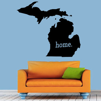 Michigan Home Decal - Home Decor - Car Decal - USA - America - Indoor - Outdoor - Cottage - Perfect Gift - High Quality Vinyl Graphic