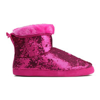 H&M - Sequined Slippers -