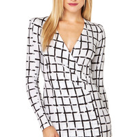 Checkmate Bodycon Dress