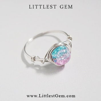 Silver Cotton Candy Ring - unique rings - custom ring