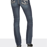 silver jeans co. ® Aiko Stud flap pocket slim boot jeans
