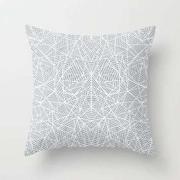 Abstract Lace on Grey Throw Pillow by Project M | Society6