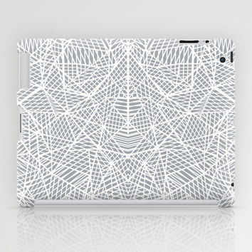 Abstract Lace on Grey iPad Case by Project M | Society6