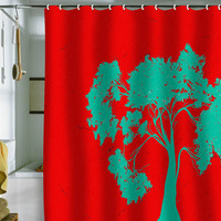 DENY Designs Home Accessories | Madart Inc. Modern Design Red And Aqua Shower Curtain
