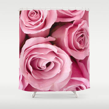 Pink Roses Shower Curtain by Erika Kaisersot