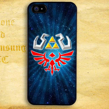 Zelda Triforce Hyrule for iPhone  4 4s 5 5s 5c iPod 4 5 Touch and Samsung Galaxy s3 s4 s5 Case
