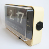Vintage 70s Copal Qg 870 Digital Quartz Flip Clock Large Face Space Age Eames Era