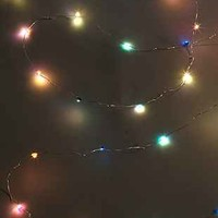 Battery Powered Crystal String Lights- Blue Multi One