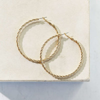 Twisted Rope Hoop Earring - Urban Outfitters