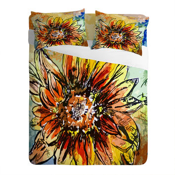 Ginette Fine Art Sunflower Moroccan Eyes Sheet Set