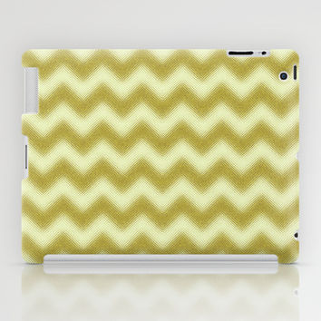 Chevron Gold Berry iPad Case by Alice Gosling | Society6
