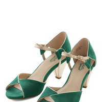 Seychelles Vintage Inspired Curiosity Heel in Emerald