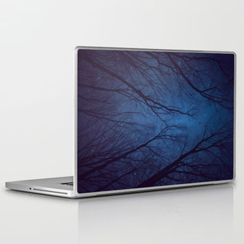 I Have Loved the Stars to Fondly (Night Trees Silhouette Abstract 2) Laptop & iPad Skin by soaring anchor designs ⚓ | Society6