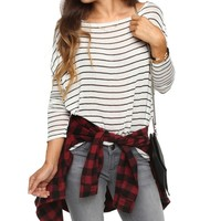 Ivory Everyday Stripe Dolman Top